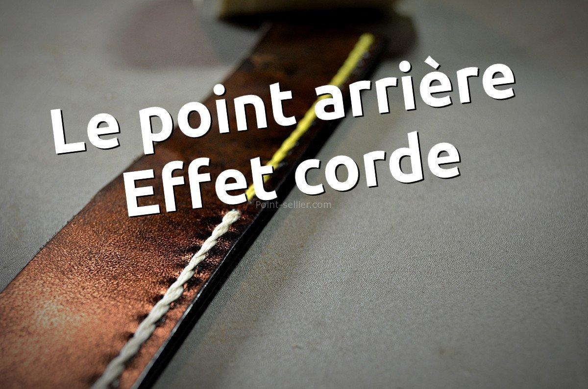 Point de couture décoratif cuir le point arrière, ou point façon corde