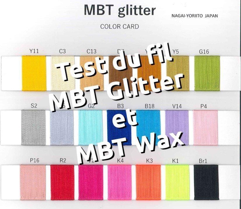 Test fil coudre MBT glitter MBT Wax Nagai Yoriito japon pour la maroquinerie, le point sellier et les coutures mains - Tithouan pour point-sellier.com