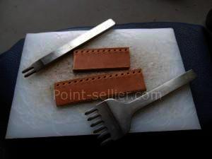 Griffe à frapper, les outils pour la maroquinerie