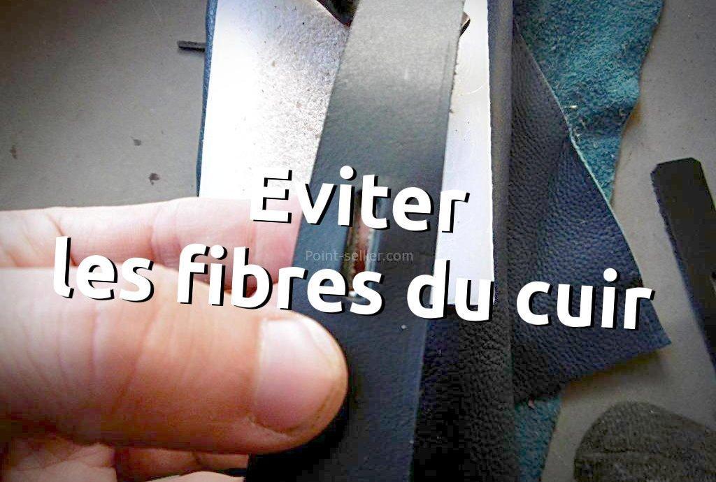 astuce éviter les fibres qui dépassent trou emporte pièce