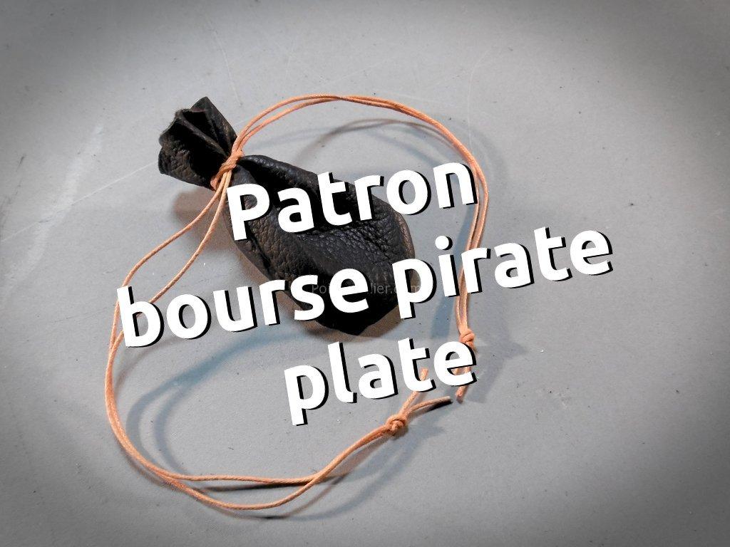 Patron bourse plate en cuir ou bourse pirate - patron maroquinerie libre et gratuit