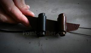 Comment fabriquer bouton en cuir enroulé médiéval historique reconstitution