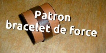 Patron bracelet de force en cuir - apprendre la maroquinerie et le travail du cuir