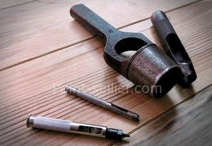 Emporte-pièce à frapper - Apprendre la maroquinerie et le travail du cuirEmporte-pièce à frapper - Apprendre la maroquinerie et le travail du cuir
