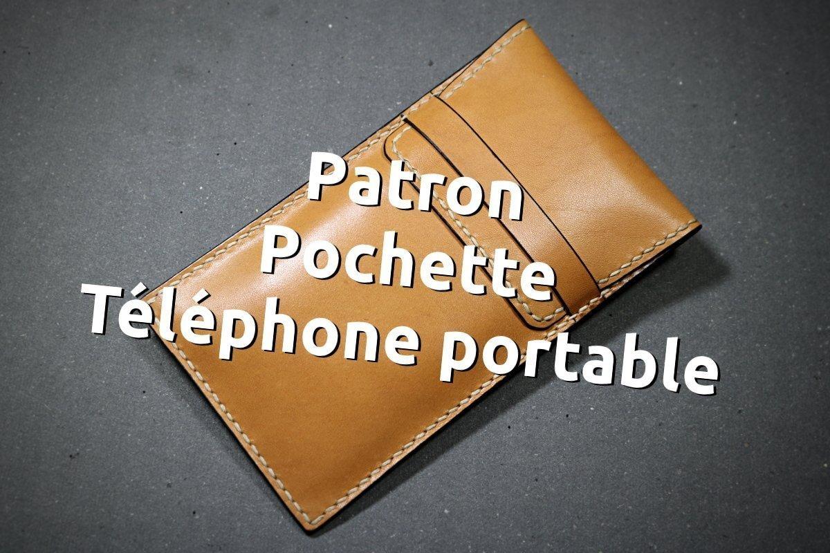 Pochette en cuir cousu main pour téléphone portable - tithouan pour point-sellier.com