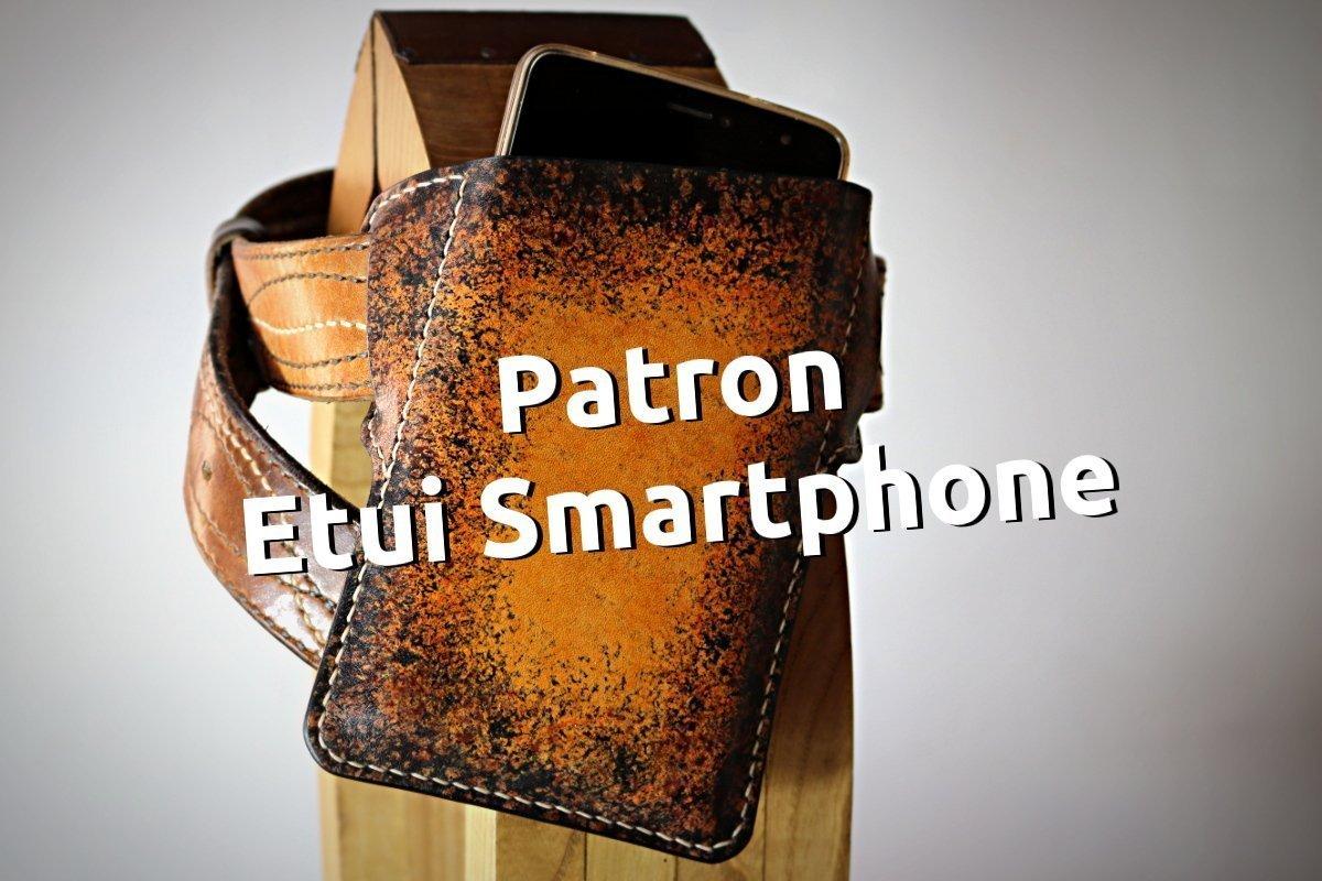 Patron libre et gratuit d'un étui smartphone ceinture en cuir - Point-sellier.com - Tithouan