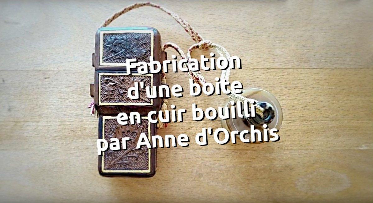Fabrication d'une boite en cuir bouilli par Anne d'Orchis _ tithouan pour point-sellier.com