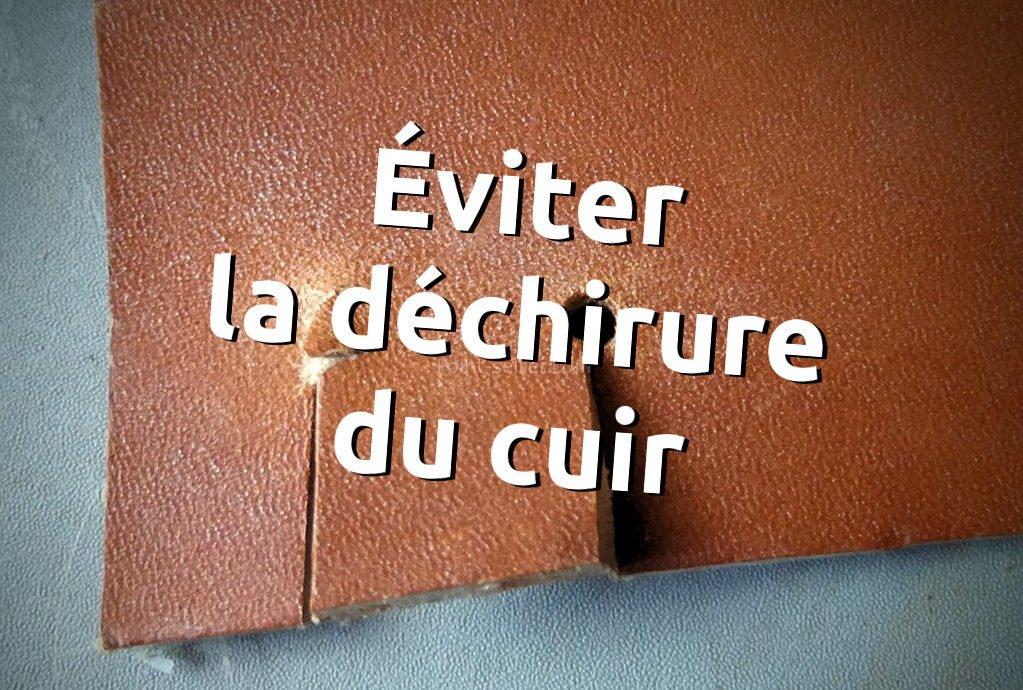 Stage maroquinerie point-sellier - faire un trou au bout d une fente dans aa98bd29770