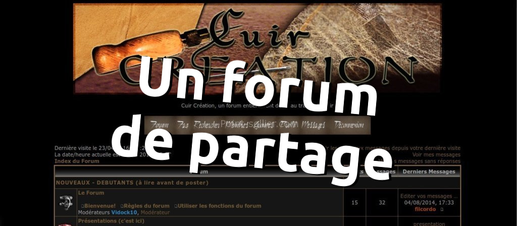 Forum d'entraide et de partage autour du cuir et de la maroquinerie