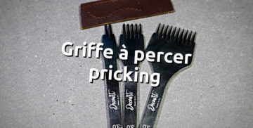 Griffe à frapper pour percer le cuir forme pricking - fabriqué par Decourt by Kevin Lee pour cuirtissu.com - tithouan pour point-sellier.Com