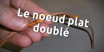 Noeud plat doublé, bloquer un fil de couture en maroquinerie