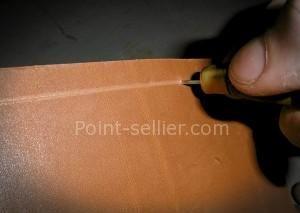 Outil pointe sèche pour tracer et marquer le cuir en maroquinerie