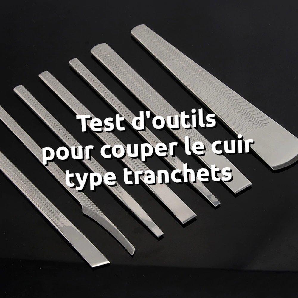 Lot d'outils pour couper le cuir - Tithouan pour point-sellier.com