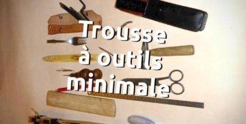 Trousse à outils minimale de voyage pour travailler le cuir ou la maroquinerie