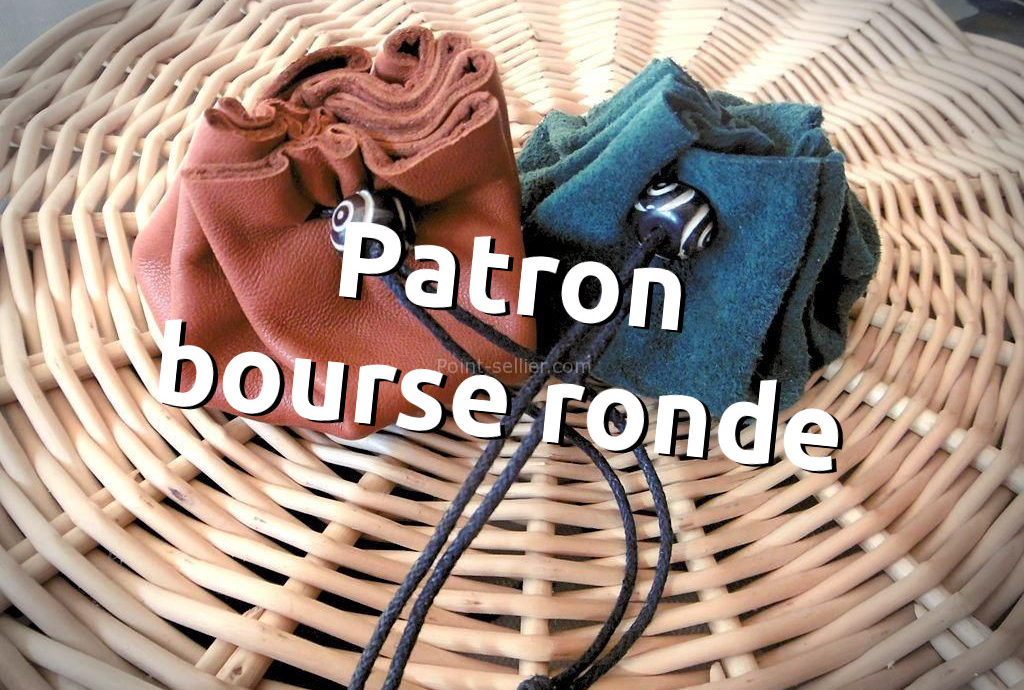 Patron bourse en cuir simple