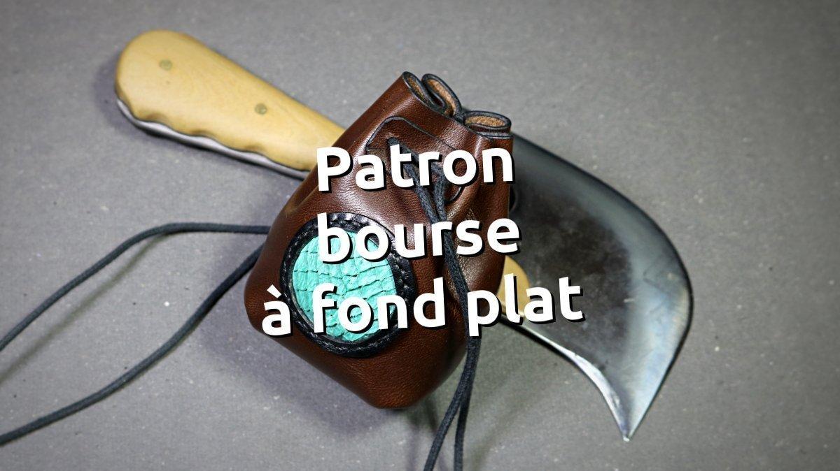 patron bourse à fond plat avec cuir de poisson - tithouan pour point-sellier.com