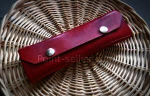 patron cuir maroquinerie trousse stylos outils gratuit libre