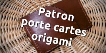 Patron porte-cartes 3 poches plat et dans un seul morceau de cuir, petite maroquinerie, tuto