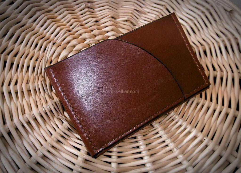 économiser 72047 2439b Porte-cartes 3 poches, 1 pièce de cuir – Point Sellier