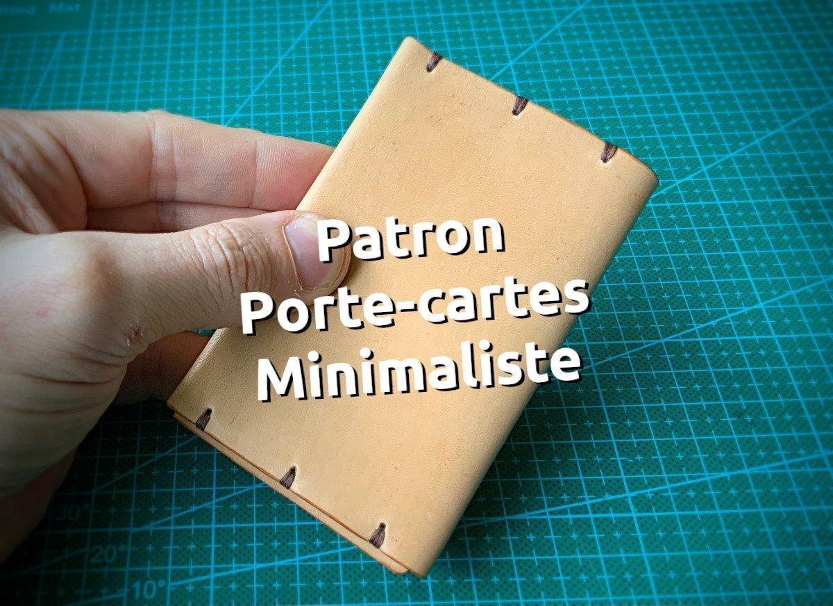 Patron porte-cartes minimaliste en cuir - tithouan pour point-sellier.com
