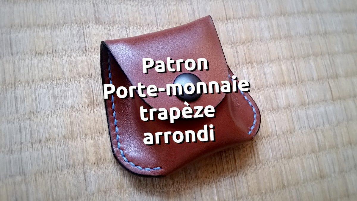 Patron d'un porte monnaie en cuir avec des coins arrondis - tithouan pour point-sellier.com