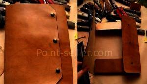patron cuir gratuit pochette porte documents en cuir, sans coutures