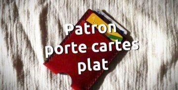 Patron porte cartes en cuir à télécharger libre et gratuit