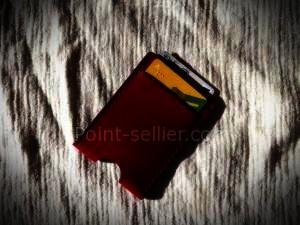 porte cartes minimaliste plat format carte bleue