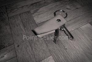 Patron porte-clés en cuir