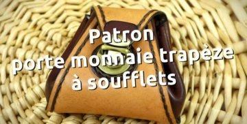 Patron gratuit et libre d'un porte monnaie en cuir - point sellier, tithouan, maroquinerie et travail du cuir