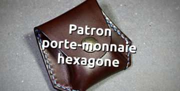 Patron porte monnaie hexagone en cuir - tithouan pour point-sellier.com