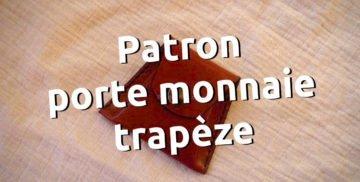 Patron porte monnaie trapèze cuir maroquinerie travail du cuir gatuit