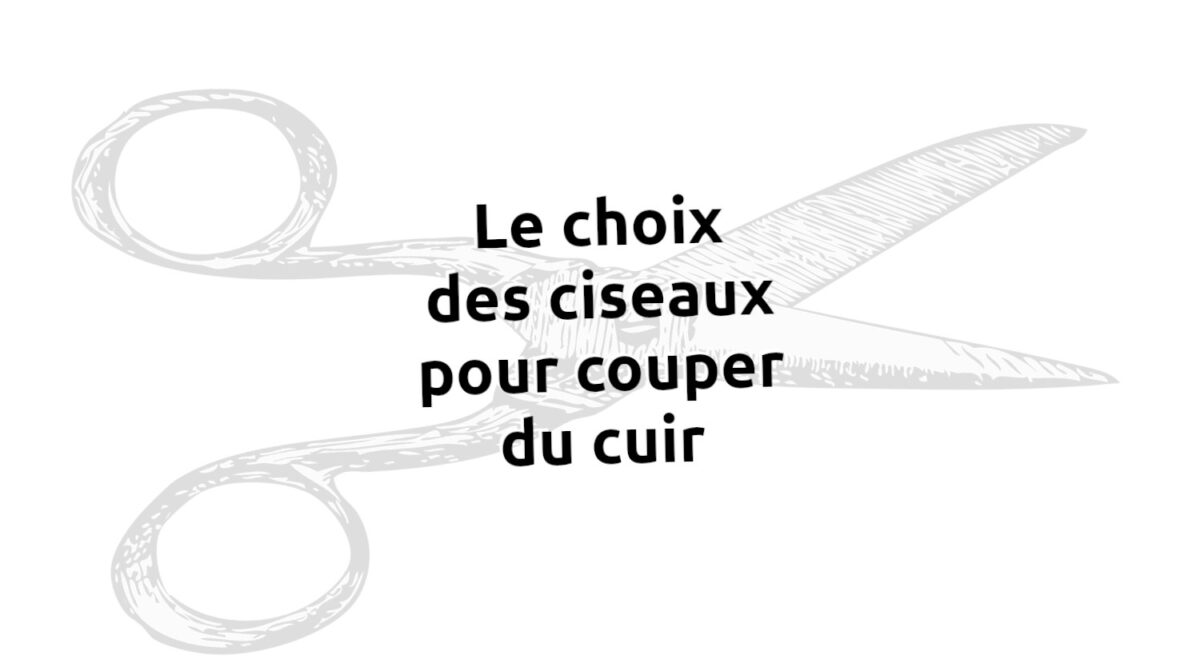 Quel ciseaux choisir pour couper du cuir ? - Tithouan pour Point-sellier.com
