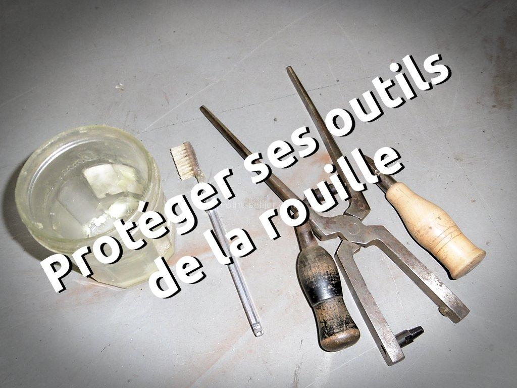 Nettoyer la rouille d'un outil ancien - enlever la crasse - maroquinerie et travail du cuir