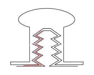 Bloquer un bouton de col ou vis chicago