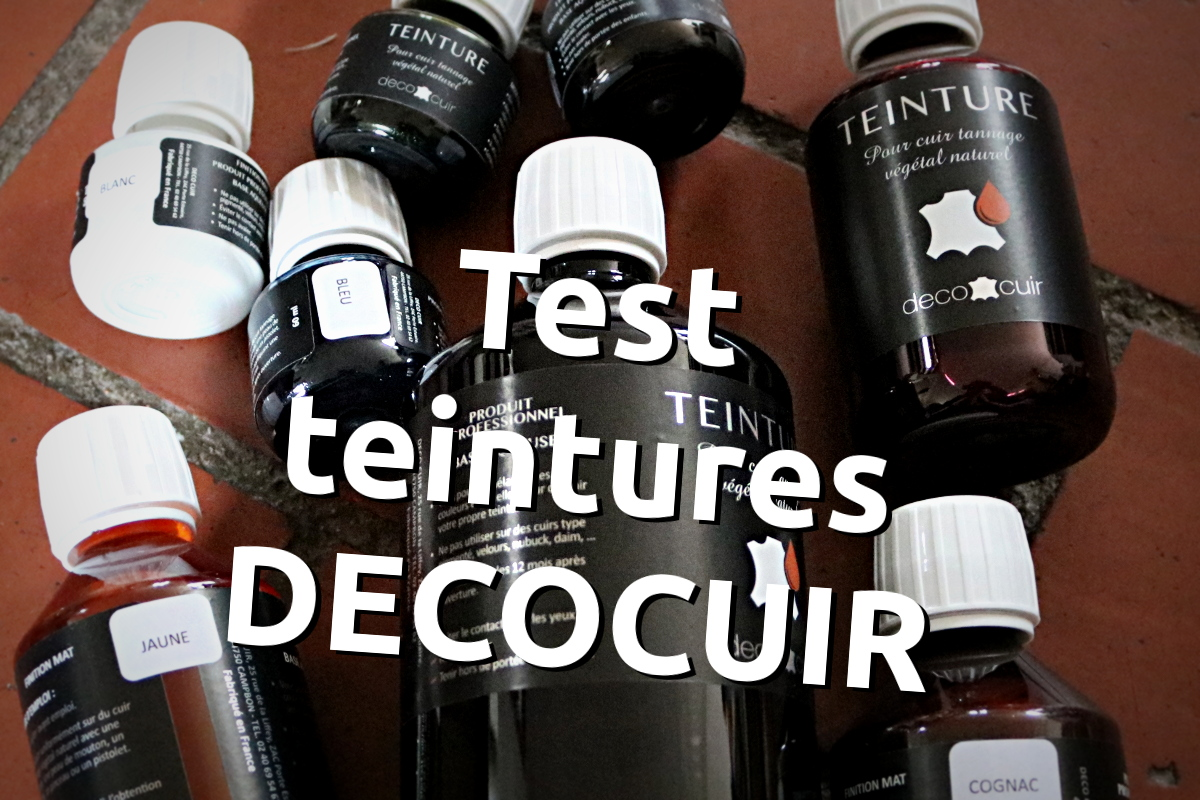 test teinture decocuir base aqueuse pour le cuir tannage vegetal - tithouan pour point-sellier.com