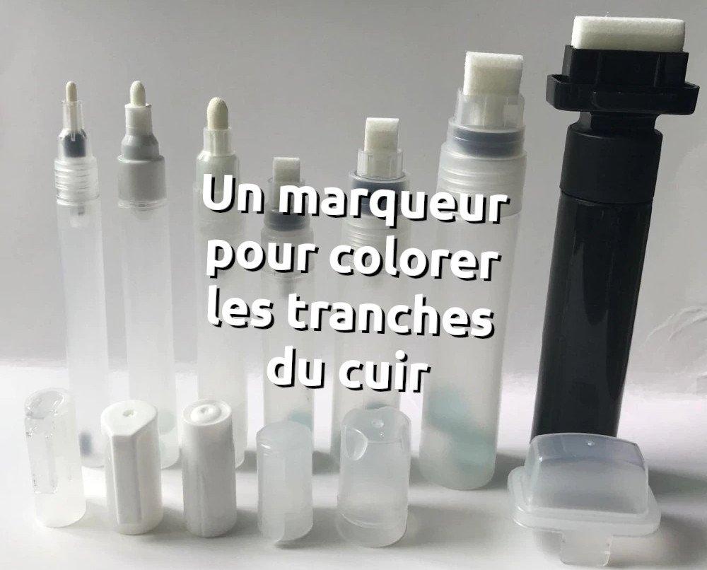 Utiliser un marqueur pour teinter les tranches du cuir ou d'un article de maroquinerie - tithouan pour point-sellier.com